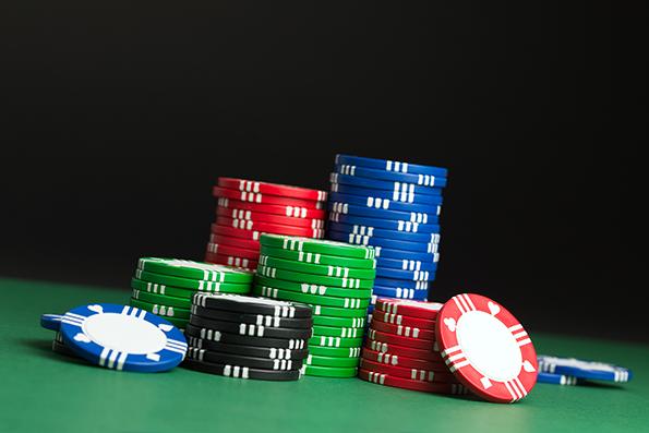 Keramiske poker chips - Jo tungere jo bedre.